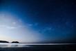 moon over the sea, photo as a background , taken in Samara, Nicoya, Costa rica central america