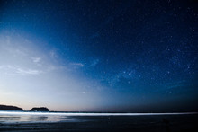 Moon Over The Sea, Photo As A ...