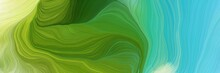 Horizontal Banner With Waves. ...