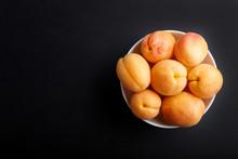 Fresh Orange Apricots In White...