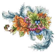 Watercolor Illustration Botani...