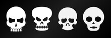 Funny Halloween Bone Skulls Ve...