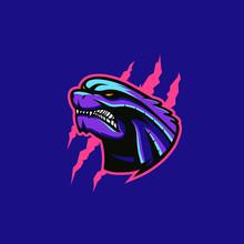 Godzilla Sport E-sport Mascot Gaming Logo Template