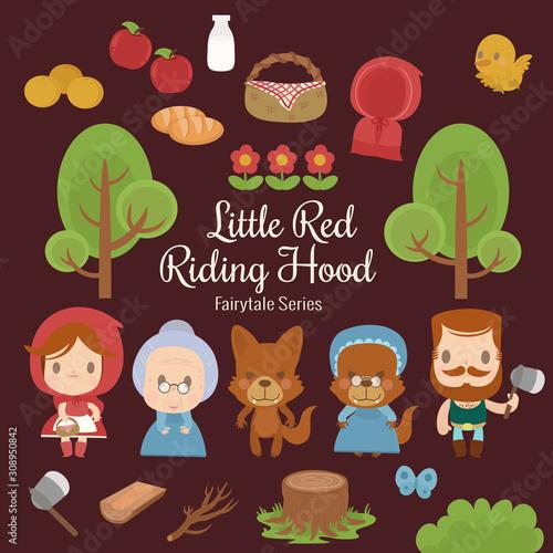 fairytale series little red riding hood Wallpaper Mural