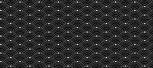 Vector Oriental Seamless Pattern, Black And White Colors.