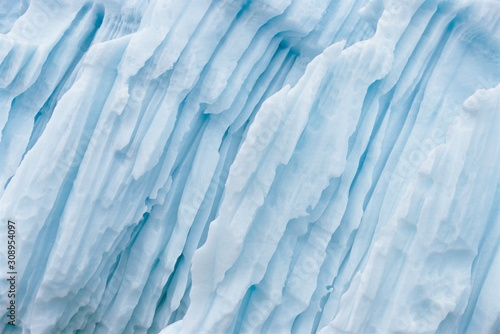 Obraz na plátne Full length view of Glaciers and Icebergs of the Arctic and Antarctic