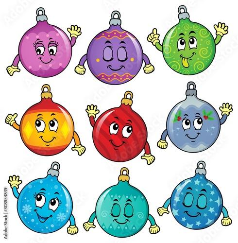 Foto op Aluminium Voor kinderen Happy Christmas ornaments theme image 6