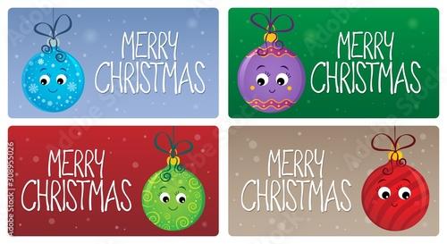 Foto op Aluminium Voor kinderen Merry Christmas theme cards 2
