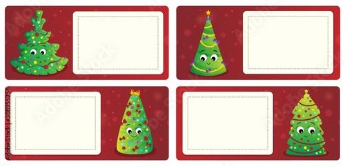 Foto op Aluminium Voor kinderen Stylized Christmas theme cards 1