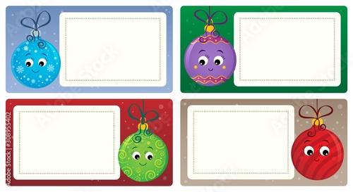 Foto op Aluminium Voor kinderen Stylized Christmas theme cards 4