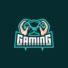 Hand Gaming Mascot Logo Awesome
