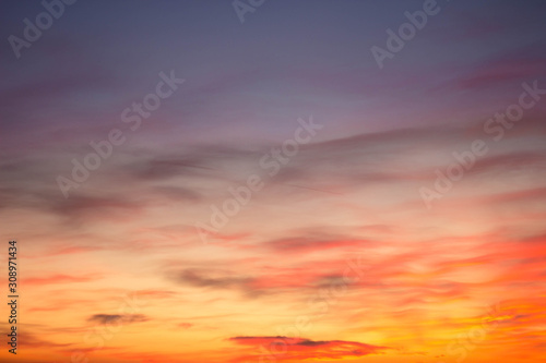 Fototapety, obrazy: sunset over the forest, dark clouds
