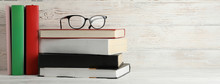 Books And Glasses Against Rust...