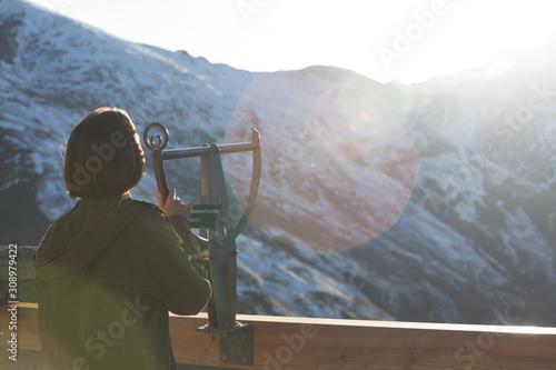 Fototapeta view of Edelweissspitze viewpoint