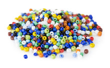 Heap Of Multi-colored Beads