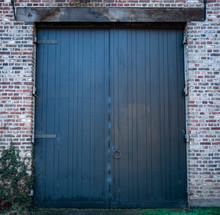 Old Blue Farm Door