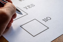 Ballot Paper Voting Yes Or No
