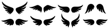 Wings Icons Set. Wing Logo. Vector