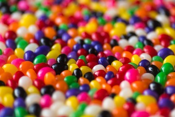 background of colorful candy sprinkles