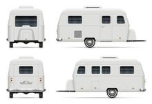 Travel Trailer Vector Mockup O...