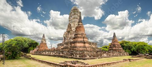 Temple Ayutthaya historical park Canvas Print