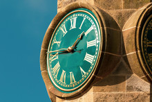 Tower Clock With Roman Numeral...
