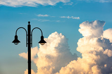 Street Lamps With A Background...