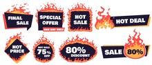 Hot Sale Badges. Fire Deal Ban...