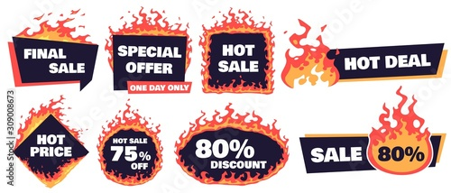 Valokuvatapetti Hot sale badges