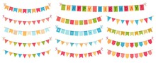 Party Bunting. Color Paper Tri...