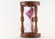 Sand Inside A Hourglass Slowly...