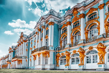 Katherine's Palace Hall In Tsarskoe Selo (Pushkin).