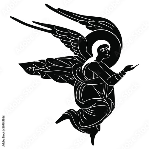 Fotografia Silhouette of flying angel