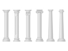 Antique White Columns, Greek A...