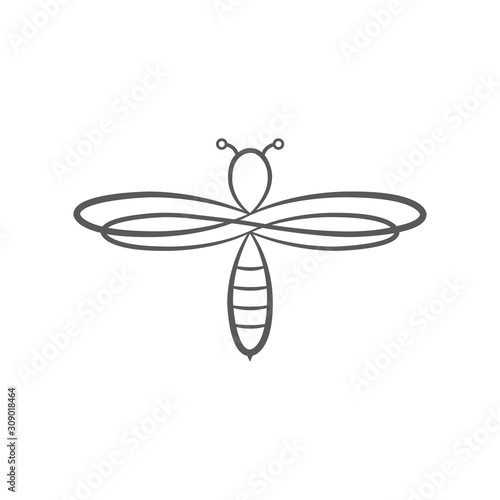 Photo Bee flat icon vector