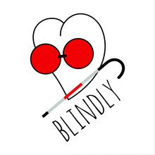 The Heart Is Blind When It Loves. Vector Image On White Background. In Doodle Style.