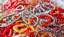 String Of Beads In Various Colors