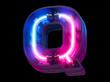 canvas print picture -  Ultraviolet neon futuristic font.