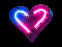 Ultraviolet Neon Futuristic Font.