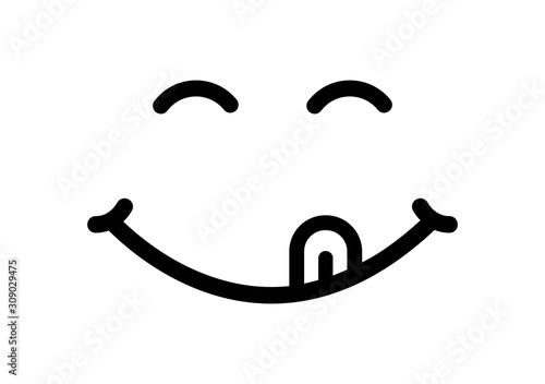 Fototapeta Face smile delicious vector icon obraz