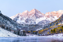 Maroon Bells Morning Sunrise W...