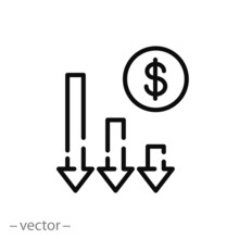 Financial Risk Icon, Benefit R...