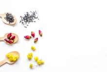 Wooden Spoons With Herbal Tea ...