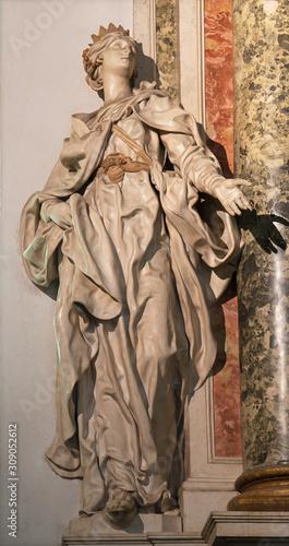 ARCO, ITALY - JUNE 8, 2018: The statue of Esther in the church Chiesa Collegiata dell'Assunta by  Gabriele Cagliari form 17 Canvas Print