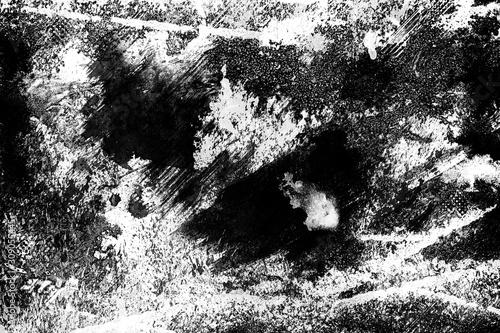 Naklejki na drzwi Czarno biała abstrakcyjna tekstura