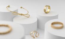 Modern Golden Bow Shape Bracel...