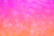 Abstract Background. Distribution Of White Bokeh On A Delicate Pink Background
