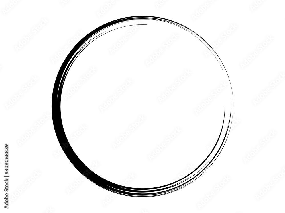 Fototapeta Grunge circle made of black ink.Grunge black frame.Marking element made for your design.