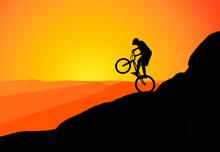 Downhill Mountain Biker, Mount...