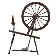 Old Vintage Spinning Wheel Isolated On White, 3d Render.